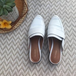Halogen Violet Mule white leather size 8.5
